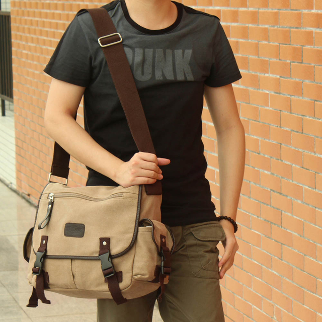 High Quality Fashion Men  s Shoulder Bag Vintage Canvas Men Messenger Bag  Korean Style 9236f328be72b