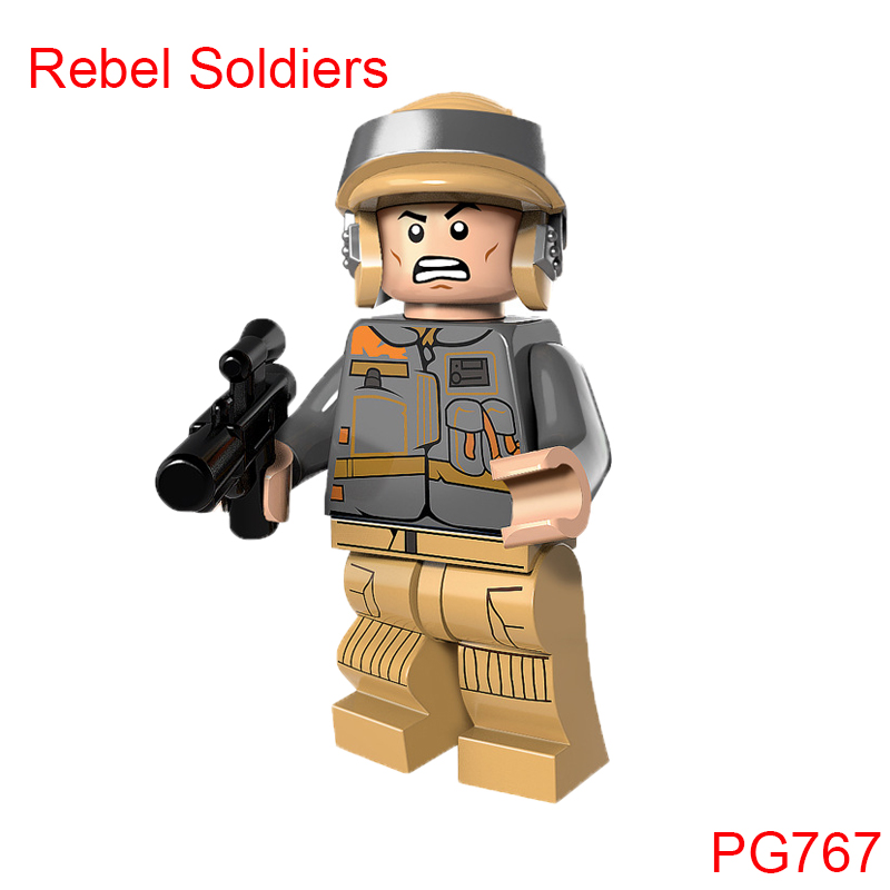 Single Sale Pg767 Rebel Soldiers Star Wars Action Figure Super Heroes Building Blocks Christmas Gifts Toys For Children pogo red hood action figure super heroes building brick toys collection single sale classic educational toys for kids gifts