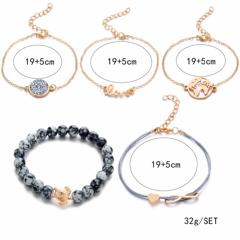 Charm Bracelet Sets for Women, Bracelet Set for Women, Bangles for Women, Strand Bracelets for Women, Strand Bangles for Women, Jewelry Party Gifts