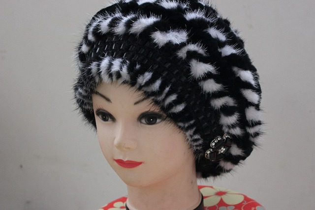 Wholesale fashion mink and rabbit fur hat lady women real 2015 free shopping real