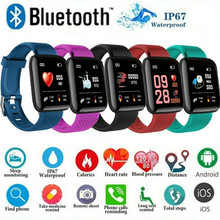 Bluetooth Smart Sports Watch Women Wristband Wrist Fitness