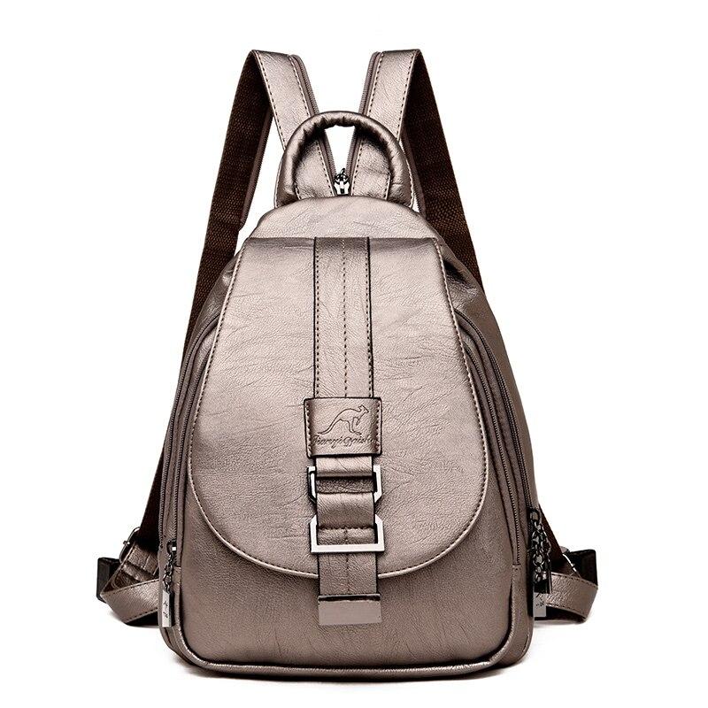 HTB1JdOZRAvoK1RjSZFwq6AiCFXad Women Backpack Multi-Function Female Backpack Casual School Bag For Teenager Girls High Quality Leather Shoulder Bag For Lady