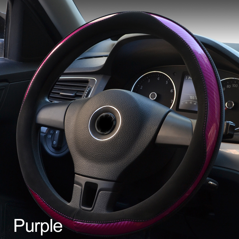 1Pcs Car Steering Wheel Cover Fashionable in nice design of 4 color made of durable fiber comfortable material for your driving