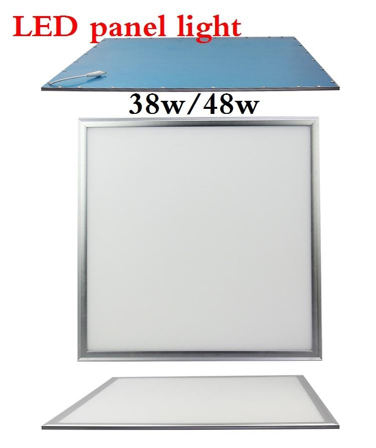 Slim panel 60CM*60CM led ceiling light 38W 48W Fluorescent Bulb, led panel light 600mm*600mm led lamp AC85-265V 10pcs DHL FREE ultra thin led ceiling panel lights 600 600mm 36w 40w 5years warranty panel light lamp rectangle 60 60cm for home 600x600mm
