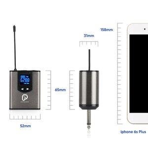 """Image 5 - Uhfワイヤレスシステムとヘッドセットマイク/ラベリアラペルマイクマイクシステム、デュアルレスボディパックトランスミッターと1ミニ充電式受信機1/4 """"出力"""