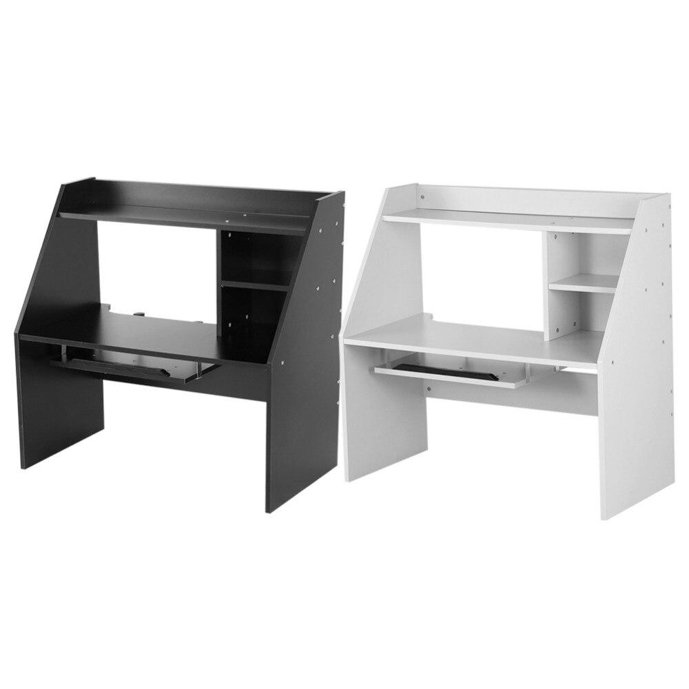 Wooden Tilted Desktop Bookshelf Home Office Bedroom Furnitune Student Wood