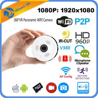 HD FishEye IP Camera Wi Fi 1080P 360 Degree Mini WiFi Camera 2 0MP Network Home