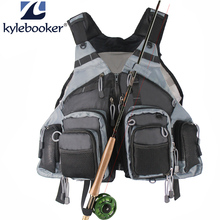 Memancing Rompi Ukuran Umum Multi Fungsi Adjustable Mesh Vest Dengan Mutil-Pocket Outdoor Fly Fishing Vest