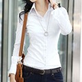 New Fashion women blouse slim blouse ol blouse long-sleeve women white blouse female white shirt spring and autumn