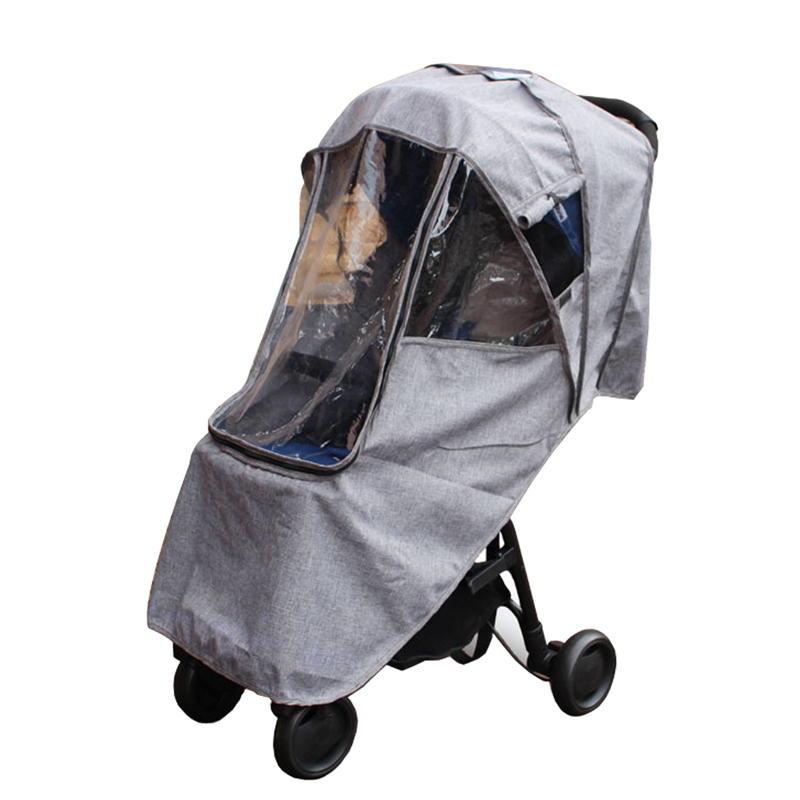 Baby Stroller Accessories Waterproof Rain Cover Universal Rain Cover Travel Cover Case Umbrella Trolley Cover Bag Stroller Part stroller rain cover waterproof cover universal twins baby stroller rain cover windproof baby carriage stroller accessories
