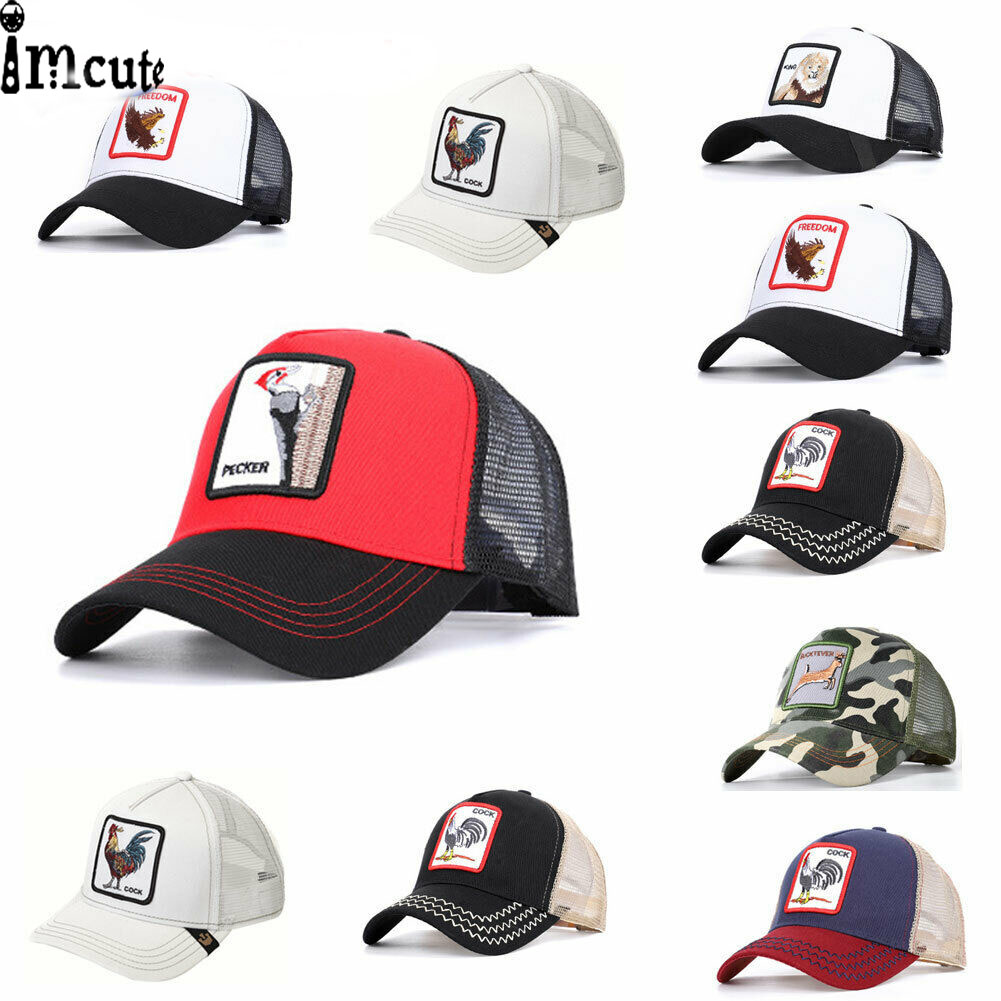 NEW Trucker Hat Cap Adjustable Animal Farm Baseball Hats Fashion Man Women Baseball Hat Hip-hop Cap  Embroidery Pattern Caps бейсболк мужские