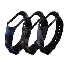 Soft Camouflage Silicone Wristband For Xiaomi Mi Band 4 3 Smart Durable Replacement Watch Strap