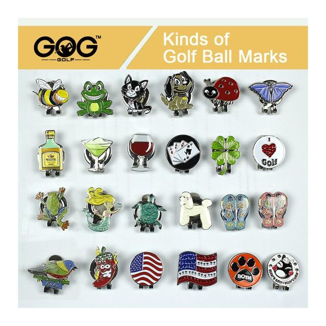 GOG Golf marcador gorra de Golf Clip magnético sombrero Clips Golf  accesorios Multi colores taza Animal 27b0b06b327