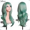SHOWSTAR Harajuku Мятно-Зеленый парик Косплей sexy Длинными Вьющимися Волнистые Парики Аниме Костюм Парик для Женщин парики sinteticas лонга Волос
