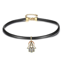 Fashion Gothic Style Charms Black Leathe Choker Necklaces for Women Party/Gift