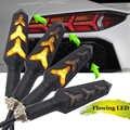 Universal fluindo motocicleta pisca luzes de sinalização led pisca para yamaha YZF-R1S le YZF-R1M YZF-R1 le YZF-R15 r25 r125