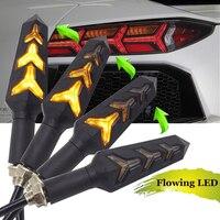 Universal fluindo motocicleta pisca luzes de sinalização led pisca para yamaha YZF R1S le YZF R1M YZF R1 le YZF R15 r25 r125|  -