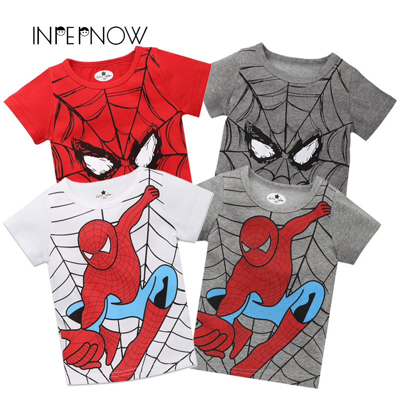 a2b8ce79edf79 INPEPNOW Spiderman Boys Short Sleeves T-Shirts for Kids Graphic T ...