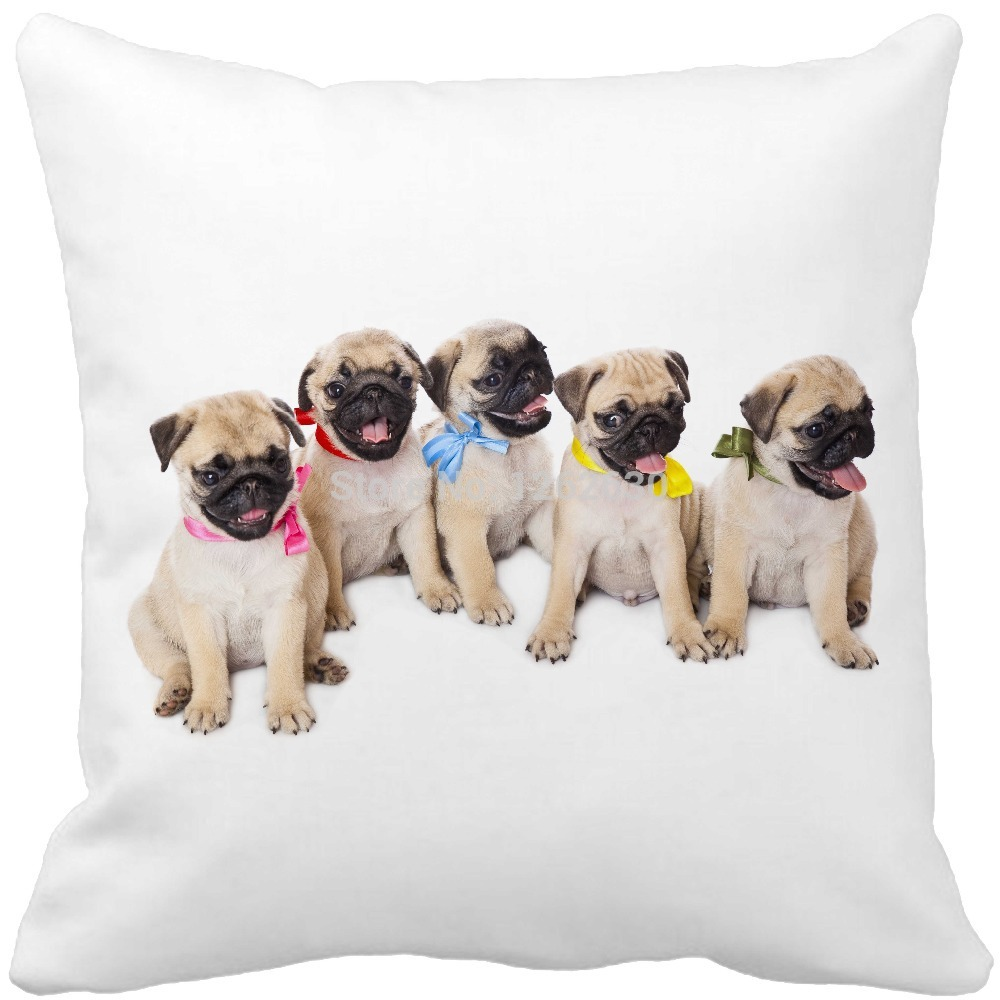 cute small bulldog dog Pet Cushion Print Car Decorative Throw Pillowcase Pillow cases Cushion Covers Sofa Chair Home Decor