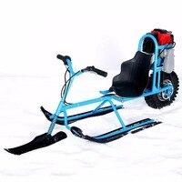 Электрический лыжный транспорт одноплатный топлива снегоход направленного Санки лыжные доски для детей Лыжный спорт оборудования