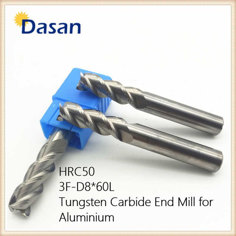 10MM Tungsten Carbide End Mill 4 Flute Shank Drill HRC50 75MM Length Flat Bottom