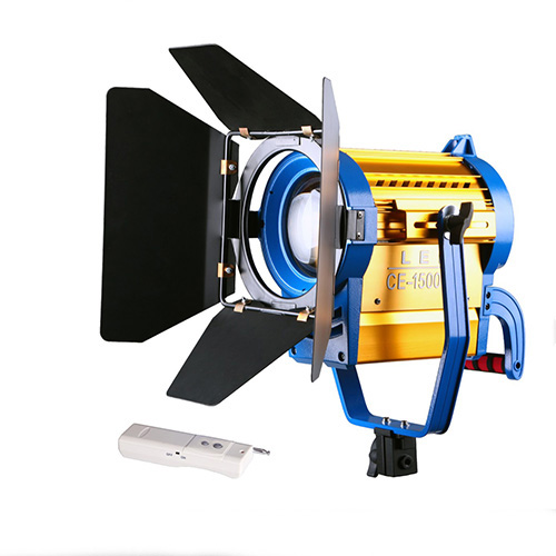 Nicefoto 1500W 5400K LED Color Temp Studio Fresnel Tungsten Video Photo Light Barndoor Dichroic Wireless Remote