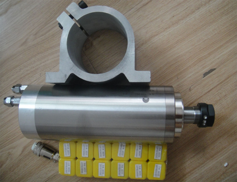 CNC spindle kit ER20 2.2KW water cooling spindle+1 piece spindle support +12 pieces ER20 collets 2 2kw water cooling spindle er20 1 piece matched spindle clamp