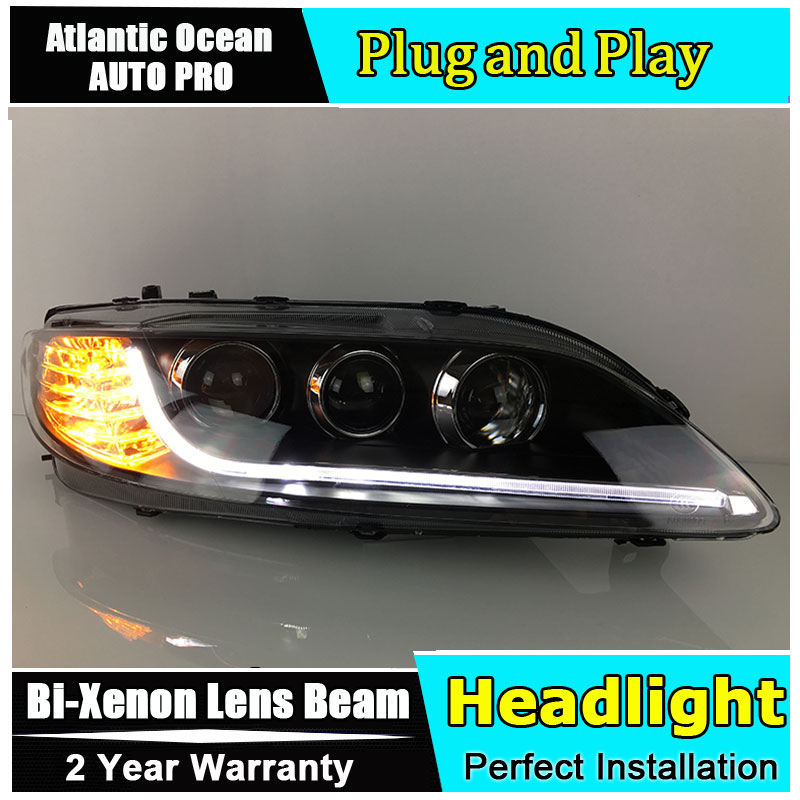 Car Styling For headlights 2003-2013 LED headlight drl LED Lamp HID KIT Bi-Xenon Lens angel eyes low beam