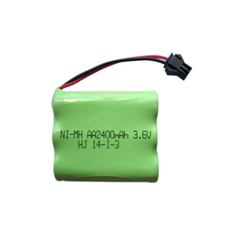 1pcs 3 6v battery 2400mah ni mh bateria 3 6v nimh battery font b pilas b