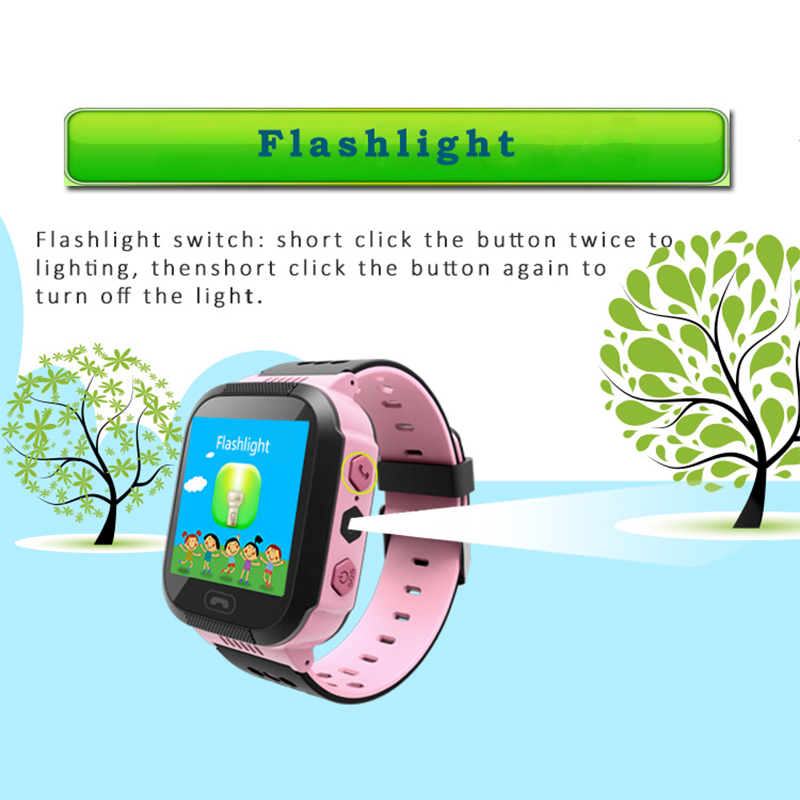 GPS Tracker Kids Watch Camera Flashlight Touch Screen SOS Call Location Baby Clock Children Smart Watches Q528 Y21 2G SIM Card in Smart Watches from Consumer Electronics