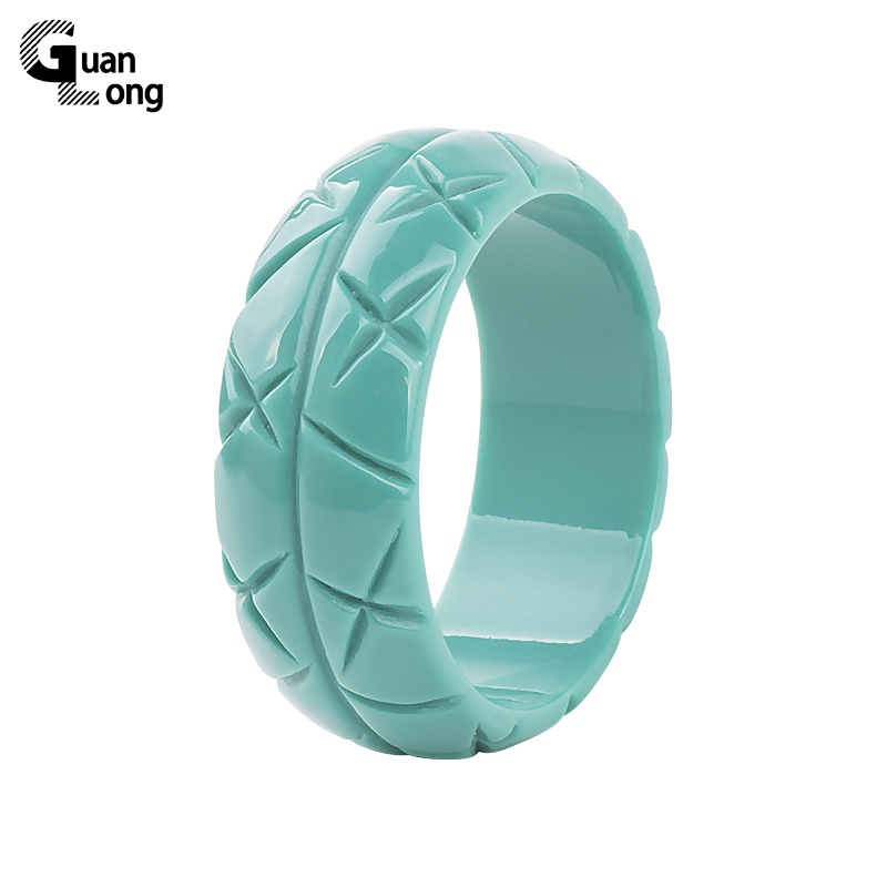 GuanLong 2017 New Fashion Resin Crafts Jewelry Bangles Pulseiras For Women High Street Show Bracelet Wholesale