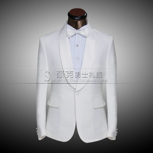 Hot 2020 Spring New Formal Dress Groom Set Black Shawl Collar Wedding Clothes Host Stage Costumes Plus Size Suit(suit And Pants)