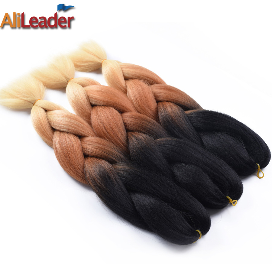 Self-Conscious Alileader Pink Blue Green Purple Grey Silver Braiding Hair 24 100g/pc Jumbo Braid Kanekalon Hair Ombre Synthetic Hair For Braid Hair Braids