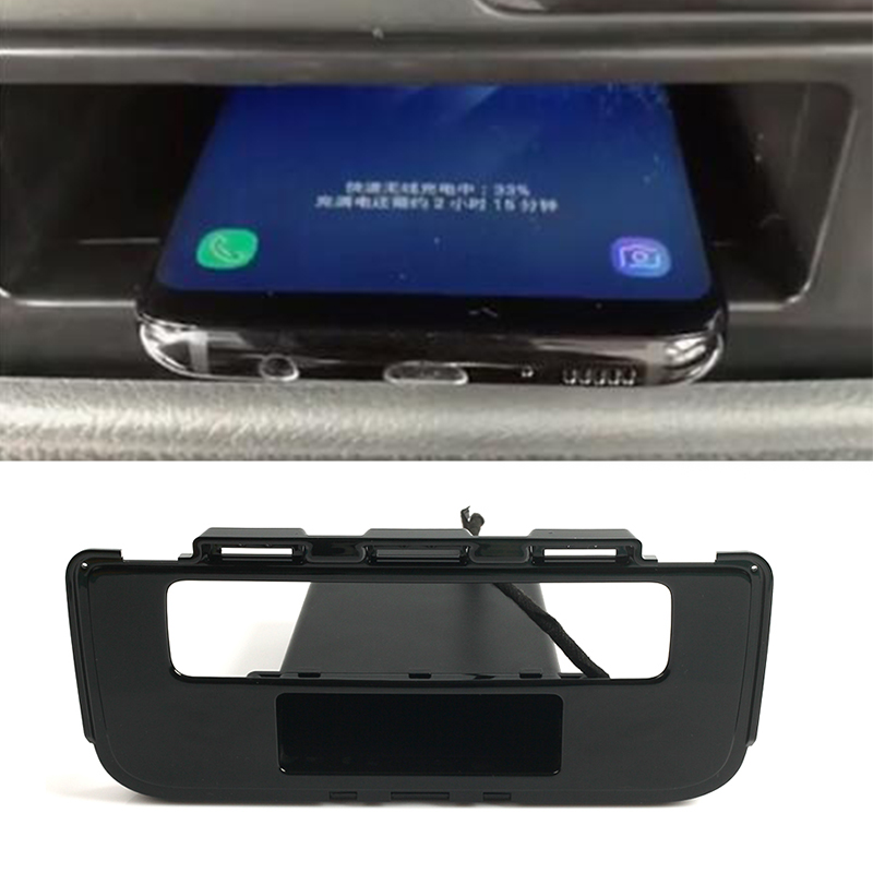 Car wireless charger for <font><b>Mitsubishi</b></font> Outlander 2015 2016 2017 2018 wireless charging phone charger central console storage box image