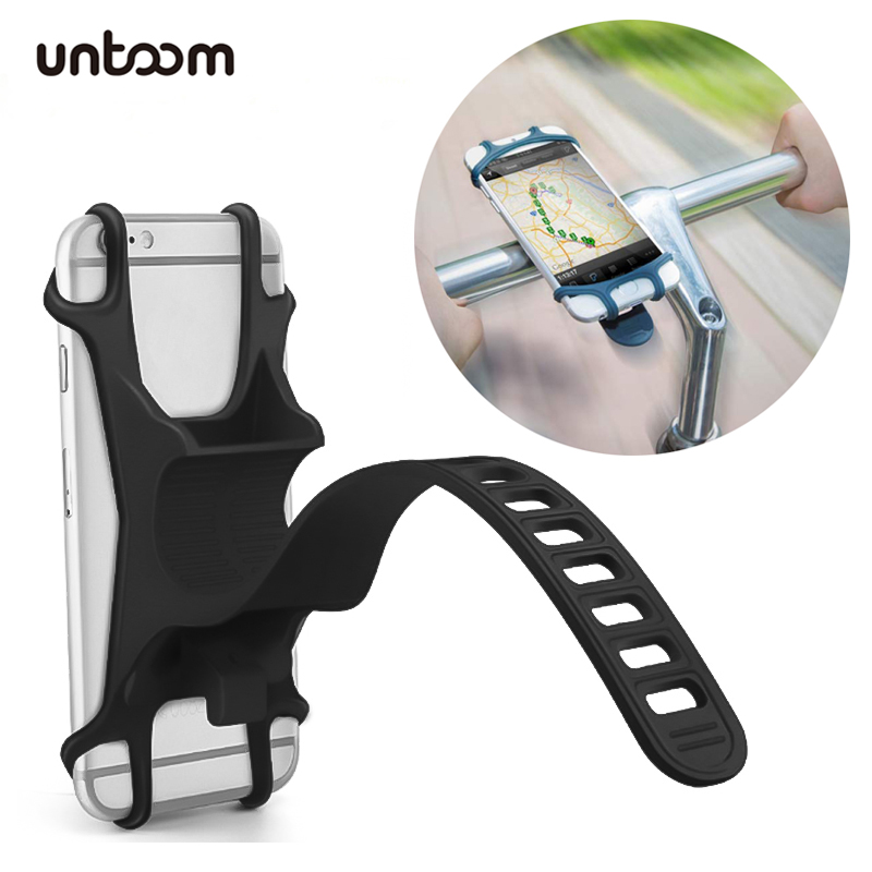 Universal Bike Phone Holder Silicone Bicycle Handlebar Cell Phone Mount For IPhone Xs Xr X 8 7 Plus Samsung Galaxy S8 S7 Note 6