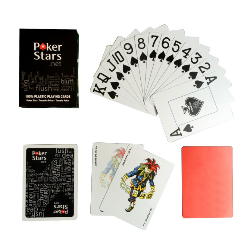 1 Sets/Lot Texas Holdem Plastic playing card game 63*88mm poker cards Waterproof and poker star Board games New Arrival
