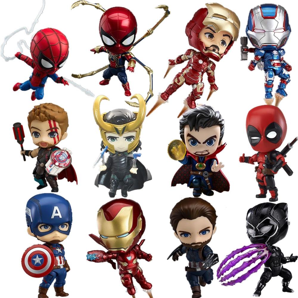 Avengers 4 Endgame Nendoroid Iron Man Loki Thor Captain America Action Figures Toy Anime Avangers Endgame Super Hero Nendoroid