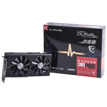New, Sapphire RX580 2048SP 4G D5 Platinum OC Game Graphics Card