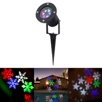 Holiday Decoration Waterproof Outdoor LED Stage Lights LED RGBW Christmas Laser Snowflake Projector Lamp Home Garden