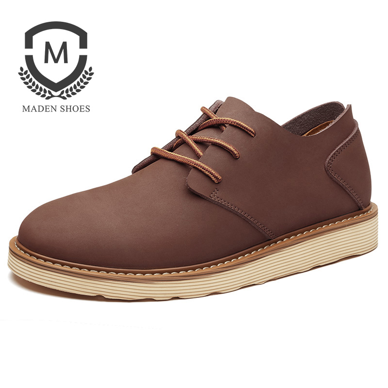 купить Maden Brand 2017 Autumn Fashion New Mens Casual Shoes Slip-On High quality  Male Shoes Britain Style RetroDesigner Flats shoes дешево
