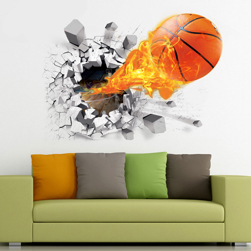 Diy 3d Basketball Soccer Pattern Wall Stickers Background Decoration Home Decoration Cait In Wall Stickers From Home Garden On Aliexpress Com Alibaba