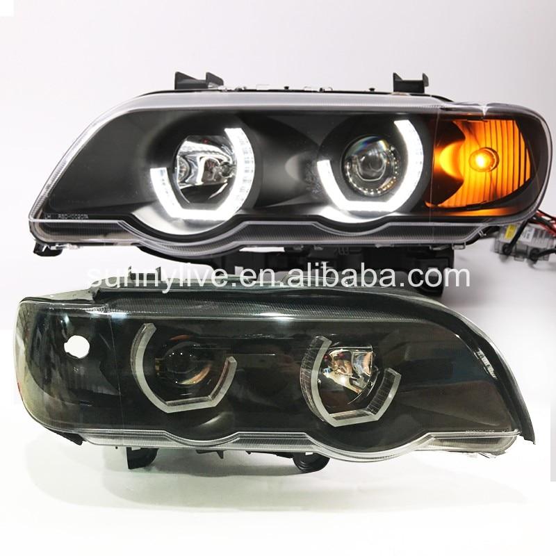 Pour BMW X5 E53 Tête Lampe Ange Eyes1998 à 2003 année JY