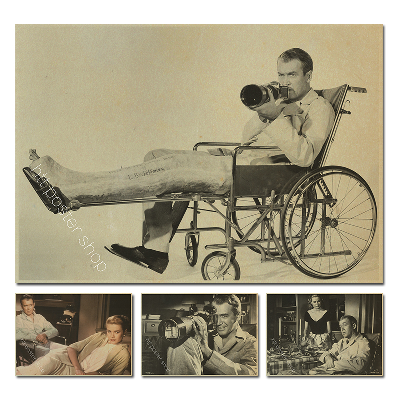 Rear Window Alfred Hitchcock James Stewart Hot Classical movie film paper Poster image