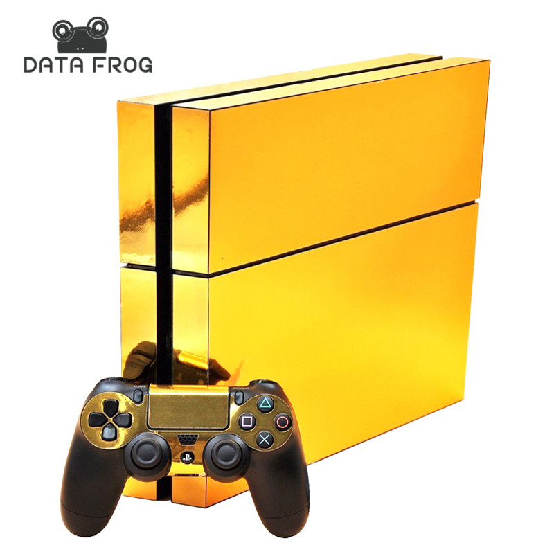gold-glossy-protective-vinyl-skin-decal-cover-for-sony-font-b-playstation-b-font-4-ps4-console-remote-for-dualshock-4-controller-sticker