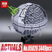 Лепин 05026 05028 Звезда смерти второго поколения Building Block кирпичи игрушечные лошадки модель войны Совместимость legoINGlys 10143 10221
