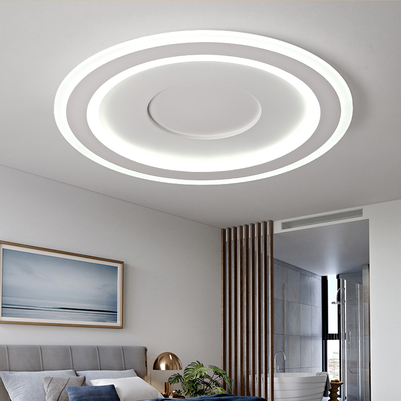 US $199.0 |Bedroom ceiling Light Led Modern Study Lamp Living Room  Restaurant Originality Round ceiling lamp round LED lamps wl3281122-in  Ceiling ...