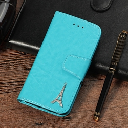 sFor Case iPhone 8 Coque Luxury 3D Tower Leather Flip Wallet Phone Cases For Cover iPhone 8 Etui Capinha For Apple iPhone8 Case 6