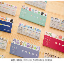 1Pcs/lot Lovely Japanese Animals Owl Kittens SUMO Sticky Notepad Memo Note Message Post Marker Label School Supplies(China)