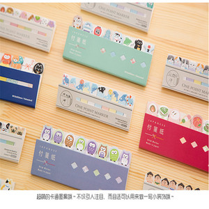 1Pcs/lot Lovely Japanese Animals Owl Kittens SUMO Sticky Notepad Memo Note Message Post Marker Label School Supplies