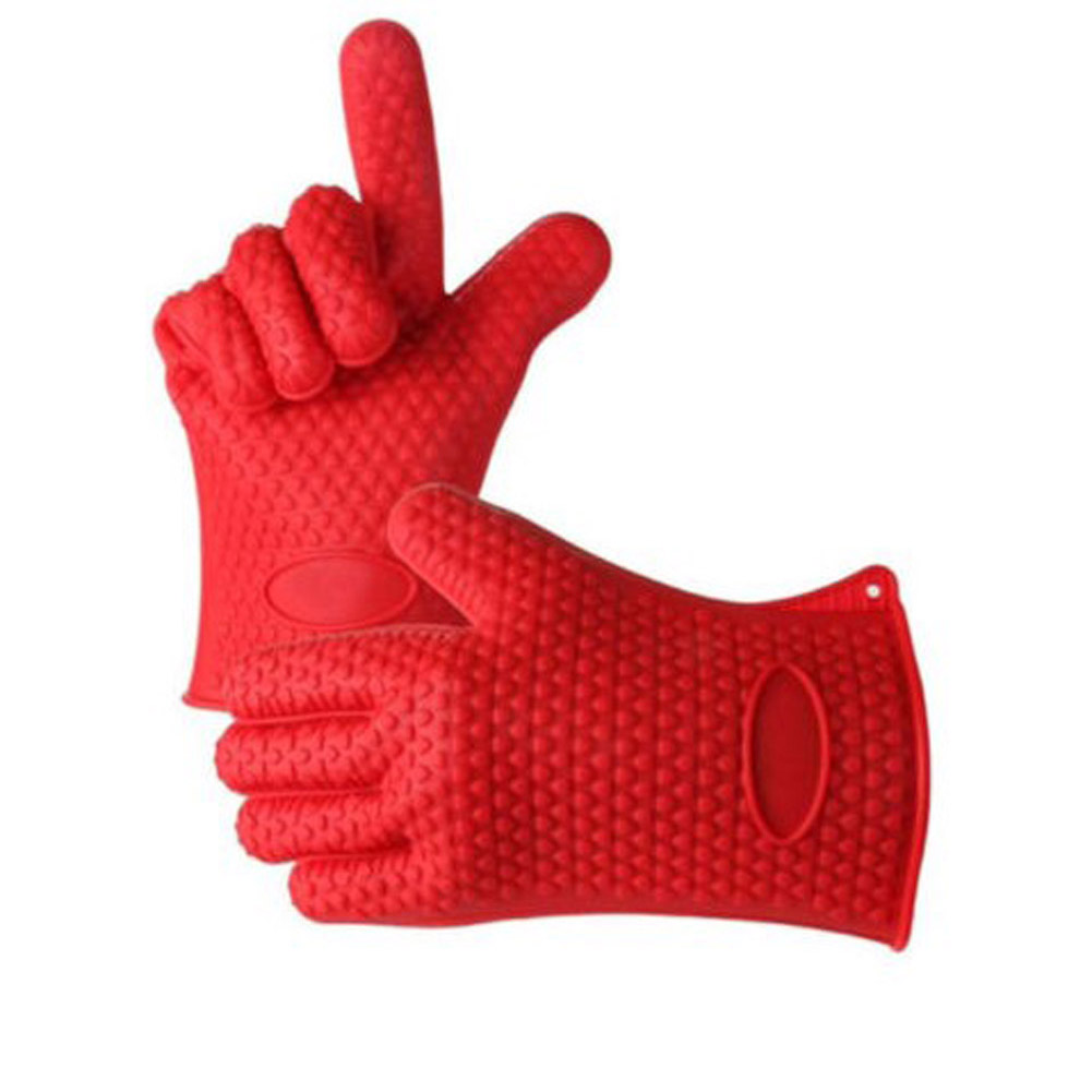 High Quality Microwave Cooking Gloves Multifunction Silicone Gloves for Use in Kitchen Handing High Temperature Food